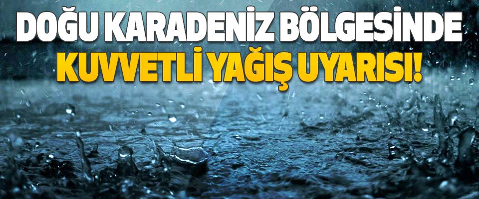Doğu Karadeniz Bölgesinde Kuvvetli Yağış Uyarısı!