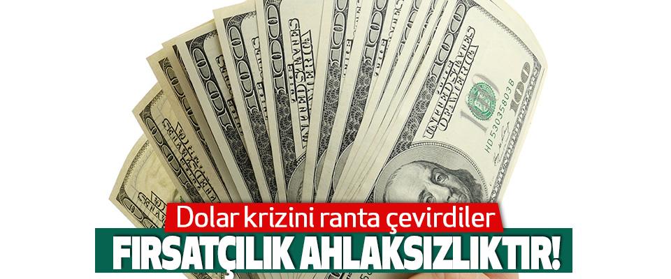 Dolar Krizini Ranta Çevirdiler