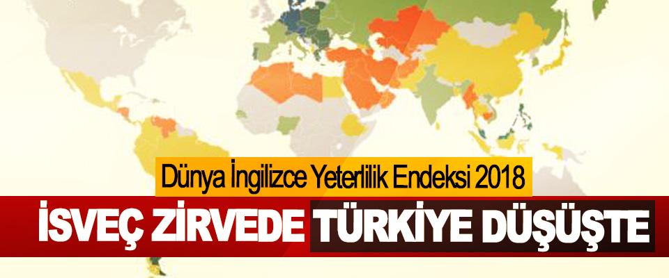 Dünya İngilizce Yeterlilik Endeksi (EPI) 2018 İsveç Yeniden Zirvede, Türkiye Büyük Düşüşte