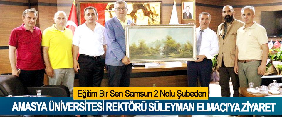 Eğitim Bir Sen Samsun 2 Nolu Şubeden Amasya Üniversitesi Rektörü Süleyman Elmacı'ya Ziyaret