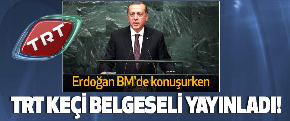 Erdoğan BM'de konuşurken Trt keçi belgeseli yayınladı!