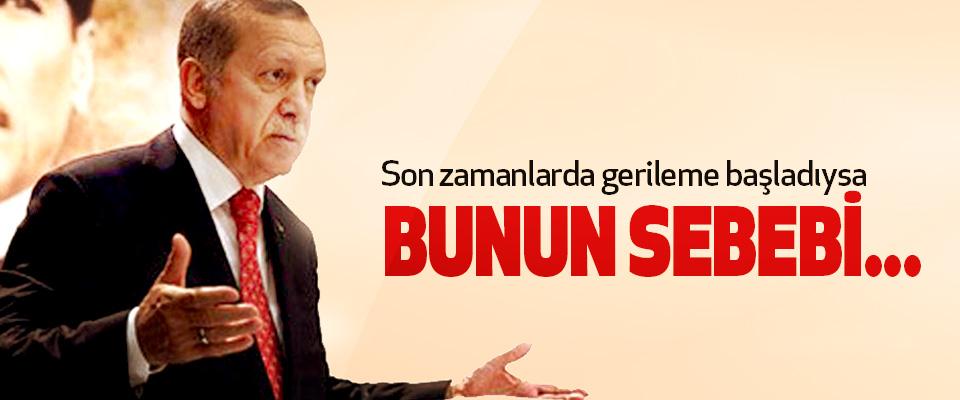 Erdoğan: Son zamanlarda gerileme başladıysa bunun sebebi...