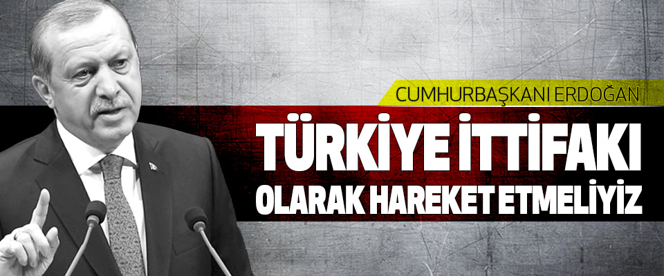 Erdoğan: Türkiye İttifakı Olarak Hareket Etmeliyiz