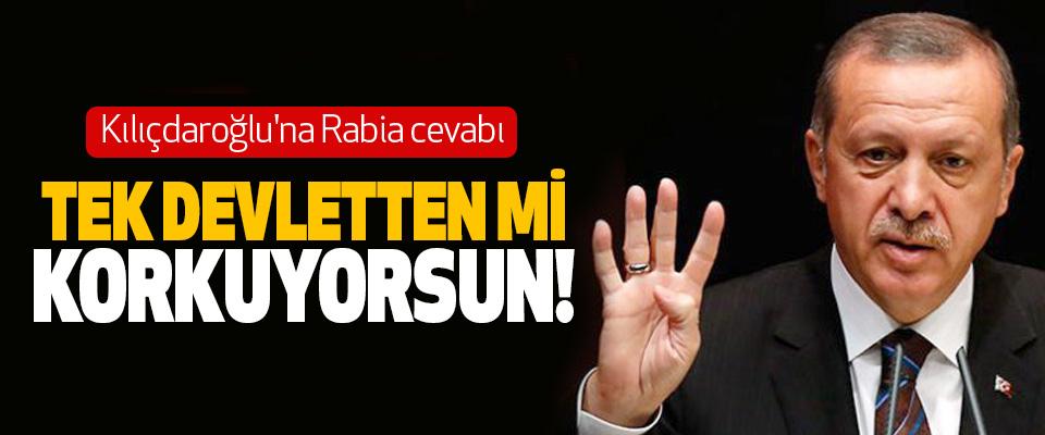 Erdoğan'dan Kılıçdaroğlu'na Rabia cevabı