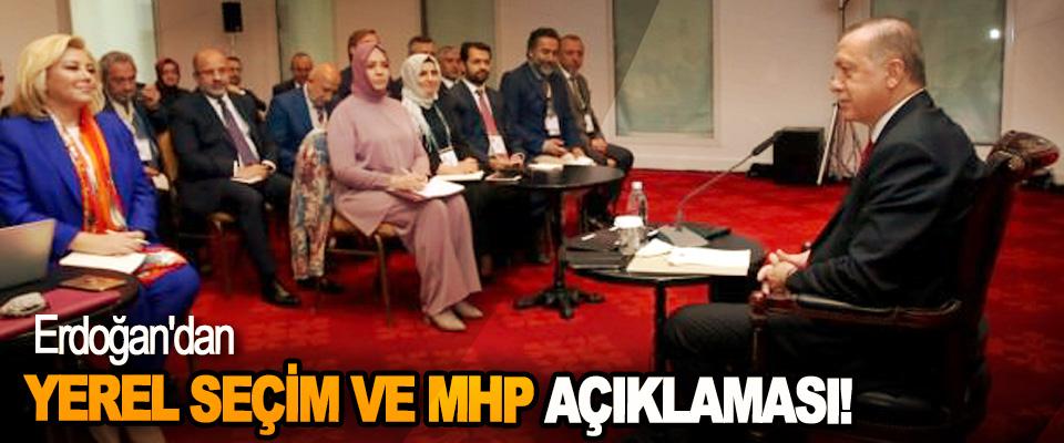 Erdoğan'dan Yerel Seçim Ve MHP Açıklaması!