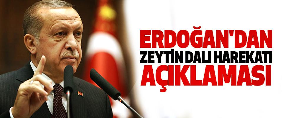 Erdoğan'dan Zeytin Dalı Harekatı Açıklaması