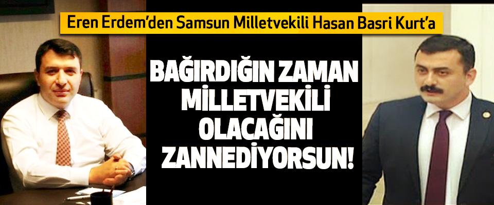 Eren Erdem'den Samsun Milletvekili Hasan Basri Kurt'a, Bağırdığın zaman milletvekili olacağını zannediyorsun!