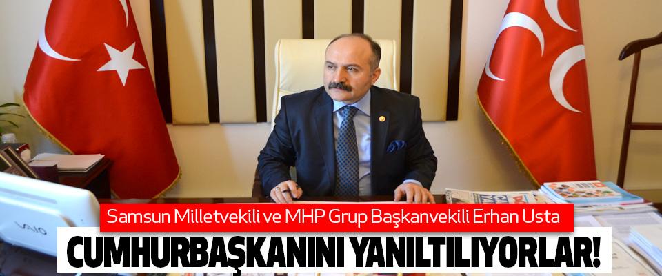 Erhan Usta, Cumhurbaşkanını yanıltılıyorlar!