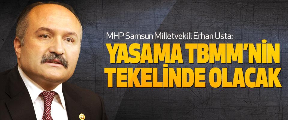 Erhan Usta: Yasama Tbmm'nin Tekelinde Olacak