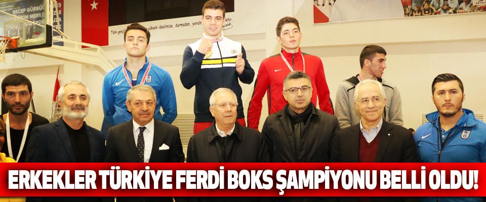 Erkekler Türkiye ferdi boks şampiyonu belli oldu!