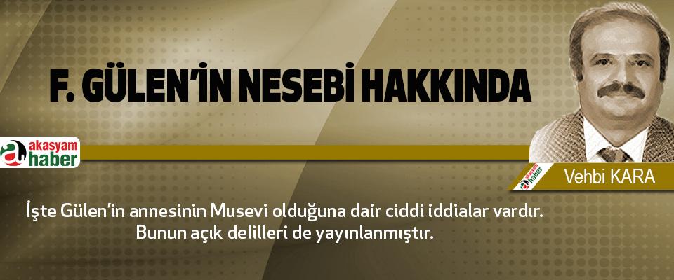 F. Gülen'in nesebi hakkında