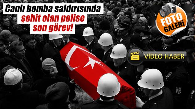 Şehit Polise Son Görev