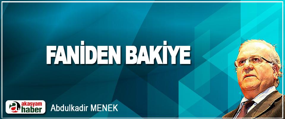 Faniden Bakiye