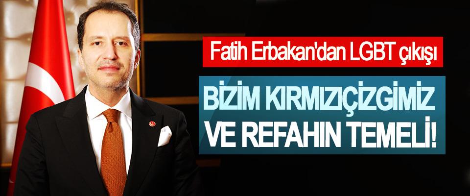 Fatih Erbakan'dan LGBT çıkışı
