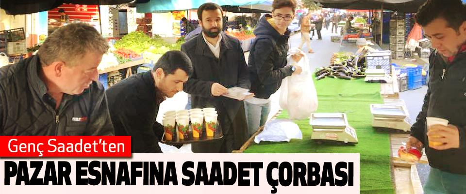 Genç Saadet'ten Pazar Esnafına Saadet Çorbası