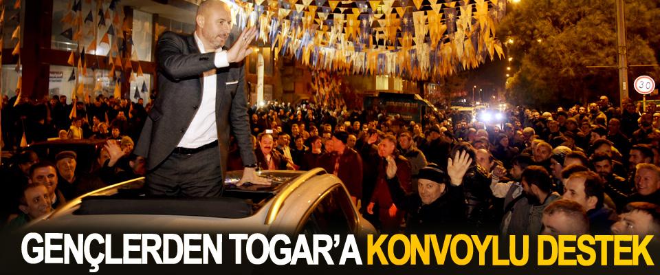 Gençlerden Togar'a Konvoylu Destek