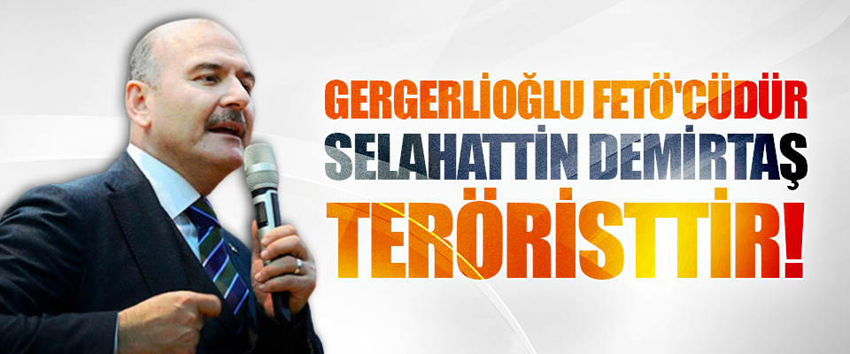 Gergerlioğlu Fetö'cüdür, Selahattin Demirtaş Teröristtir!