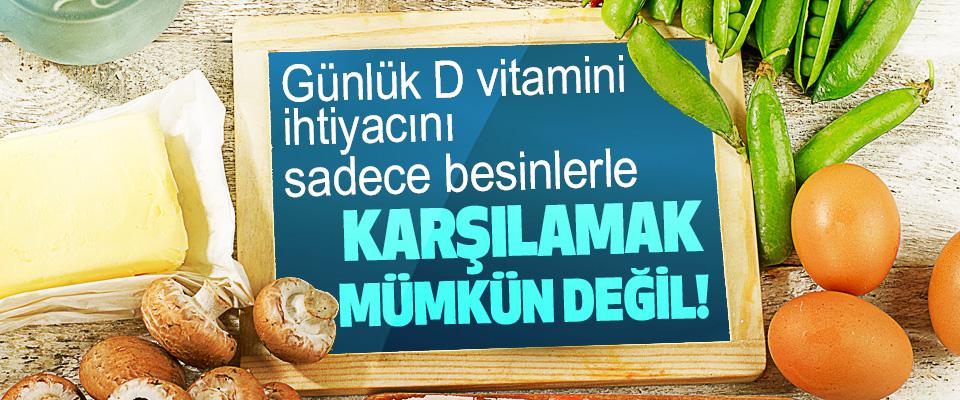 Günlük D vitamini ihtiyacını sadece besinlerle Karşılamak Mümkün Değil!