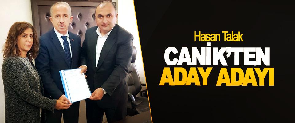 Hasan Talak Canik'ten Aday Adayı oldu