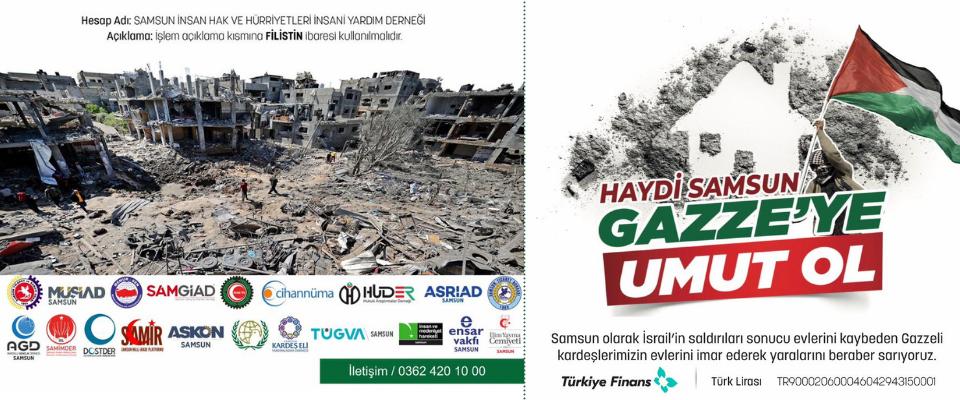 Haydi Samsun Gazze'ye Umut Ol!