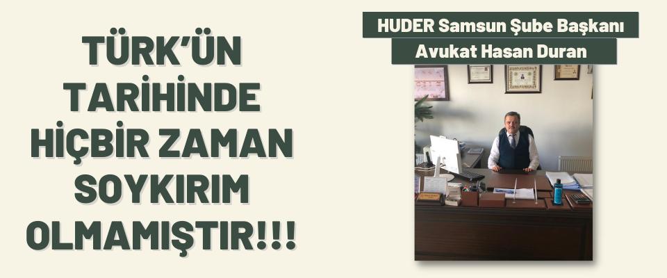 HUDER Samsun Şube Başkanı Avukat Hasan Duran