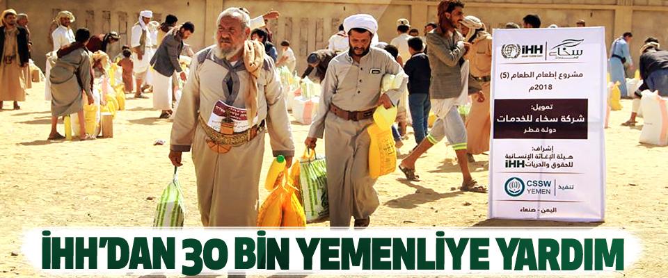 İHH'dan30 Bin Yemenliye Yardım