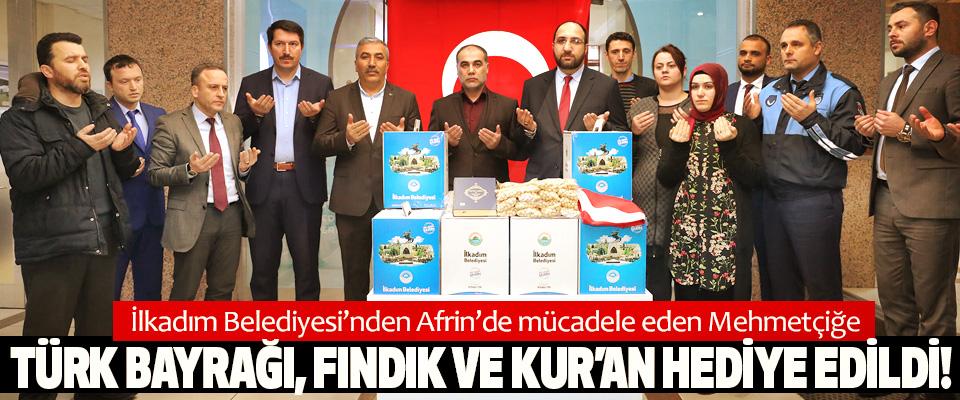 İlkadım Belediyesi'nden Afrin'de mücadele eden Mehmetçiğe anlamlı hediye
