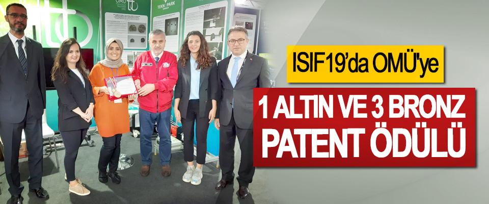 ISIF19'da OMÜ'ye 1 Altın Ve 3 Bronz Patent Ödülü