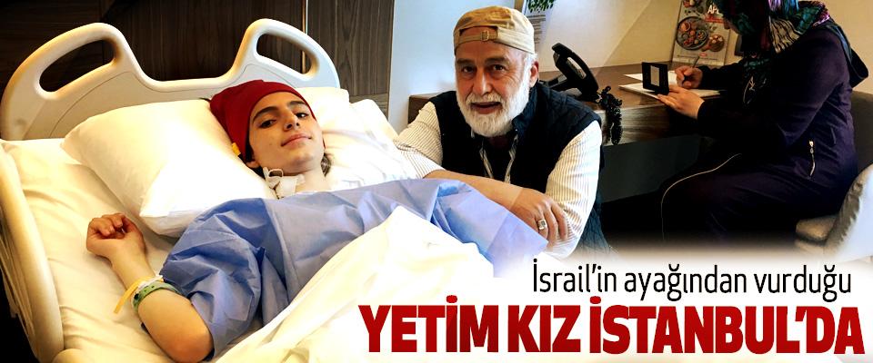 İsrail'in ayağından vurduğu Yetim Kız Istanbul'da