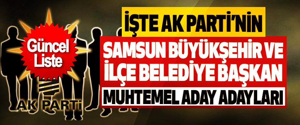 İşte Ak Parti'nin Samsun büyükşehir ve ilçe belediye başkan muhtemel aday adayları!