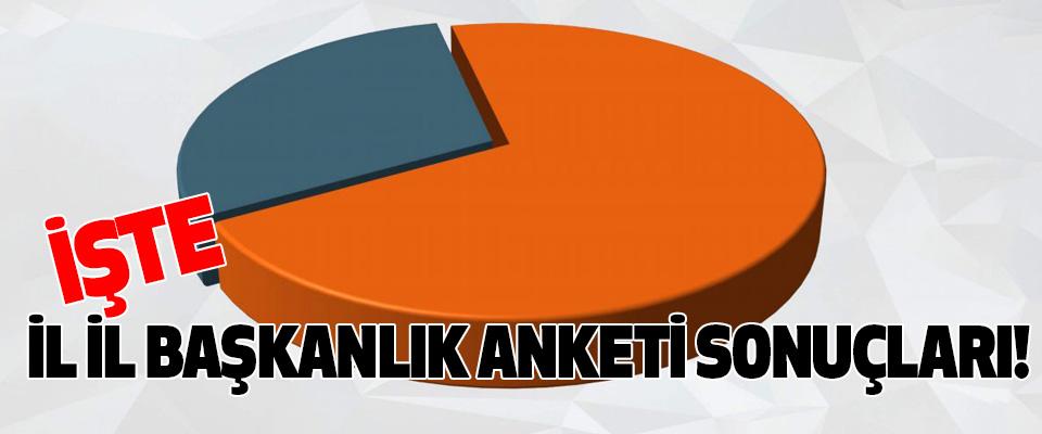 İşte il il başkanlık anketi sonuçları!