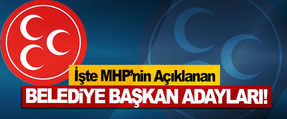 İşte MHP'nin Açıklanan Belediye başkan adayları!
