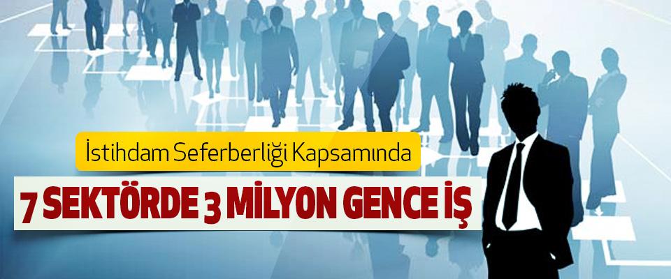 İstihdam Seferberliği Kapsamında 7 sektörde 3 milyon gence iş