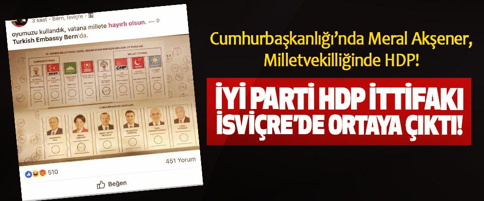 İYİ Parti HDP İttifakı İsviçre'de Ortaya Çıktı!