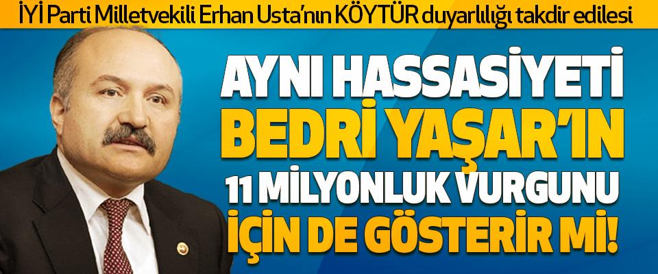 İYİ Parti Milletvekili Erhan Usta'nın KÖYTÜR Duyarlılığı Takdir Edilesi