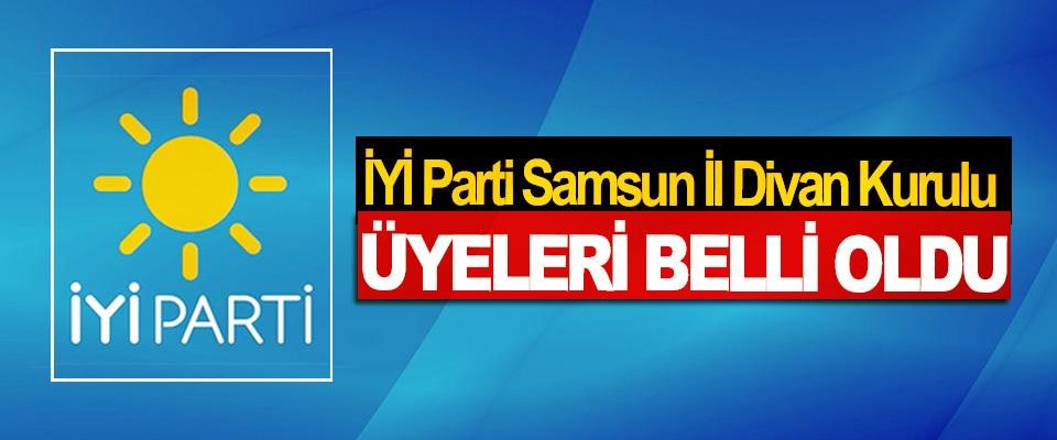 İYİ Parti Samsun İl Divan Kurulu Üyeleri Belli Oldu