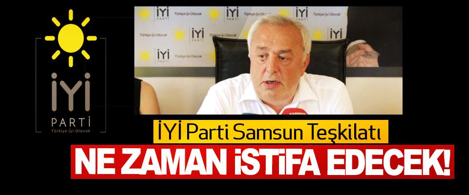 İYİ Parti Samsun Teşkilatı Ne Zaman İstifa Edecek!