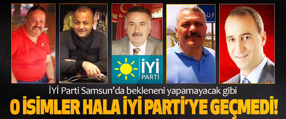 İYİ Parti Samsun'da bekleneni yapamayacak gibi