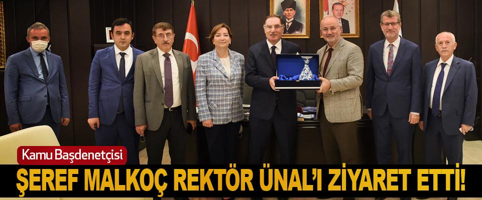 Kamu Başdenetçisi Şeref Malkoç Rektör Ünal'ı Ziyaret Etti!