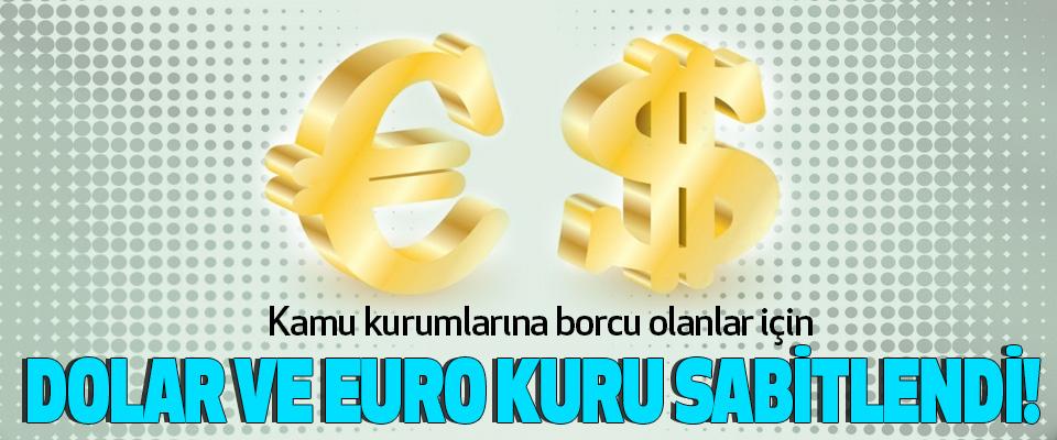 Kamu kurumlarına borcu olanlar için Dolar ve euro kuru sabitlendi!