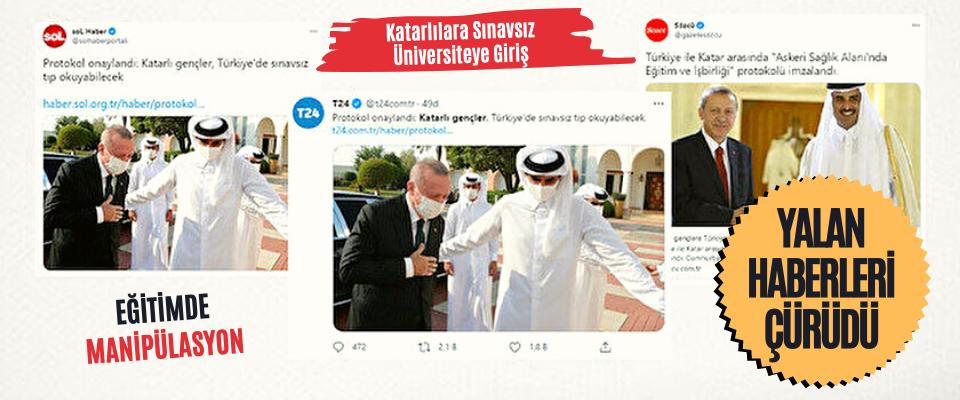 Katarlılara Sınavsız Üniversiteye Giriş Haberleri Çürüdü