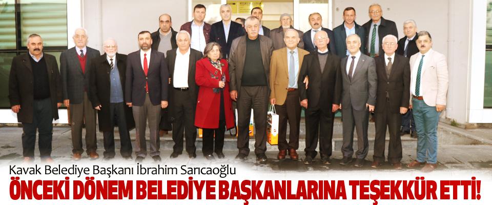 Kavak Belediye Başkanı İbrahim Sarıcaoğlu Önceki dönem belediye başkanlarına teşekkür etti!
