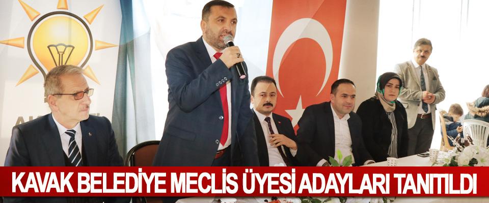 Kavak Belediye Meclis Üyesi Adayları Tanıtıldı