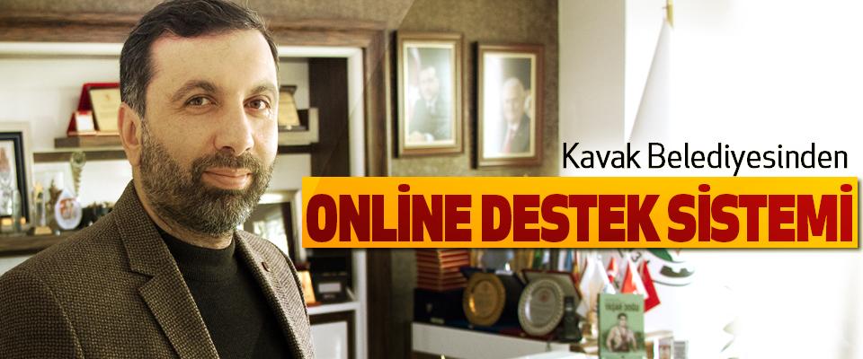 Kavak Belediyesinden Online Destek Sistemi