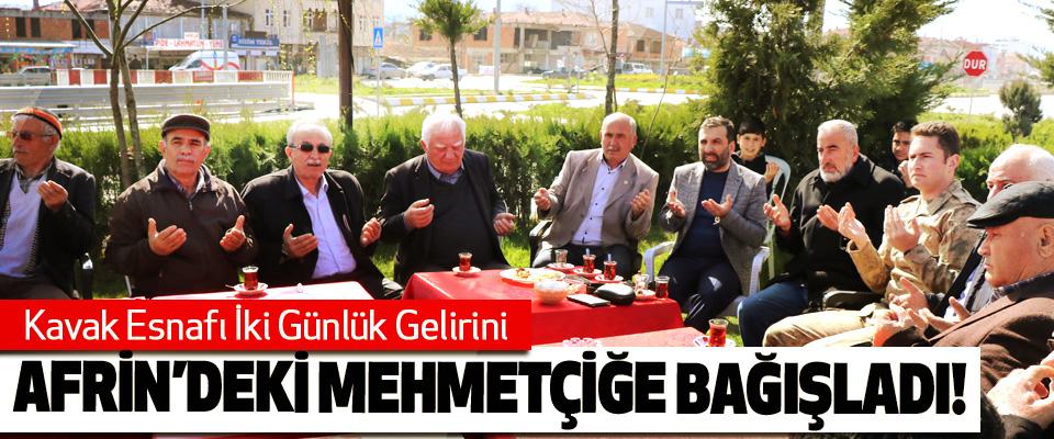 Kavak Esnafı İki Günlük Gelirini Afrin'deki Mehmetçiğe Bağışladı!