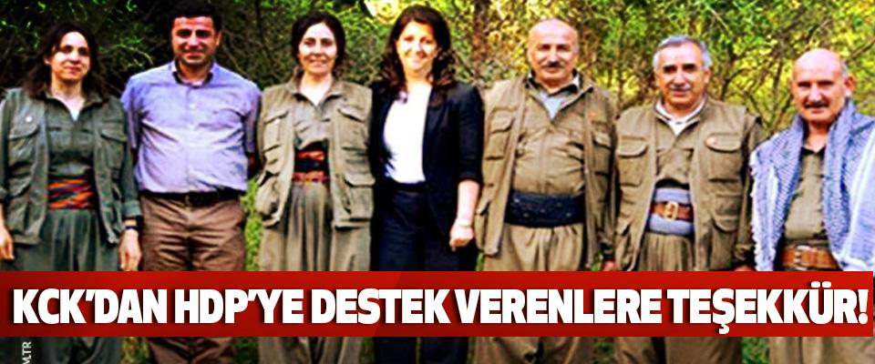KCK'dan HDP'ye destek verenlere teşekkür!