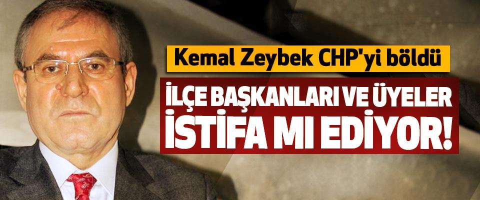 Kemal Zeybek CHP'yi böldü, İlçe başkanları ve üyeler istifa mı ediyor!