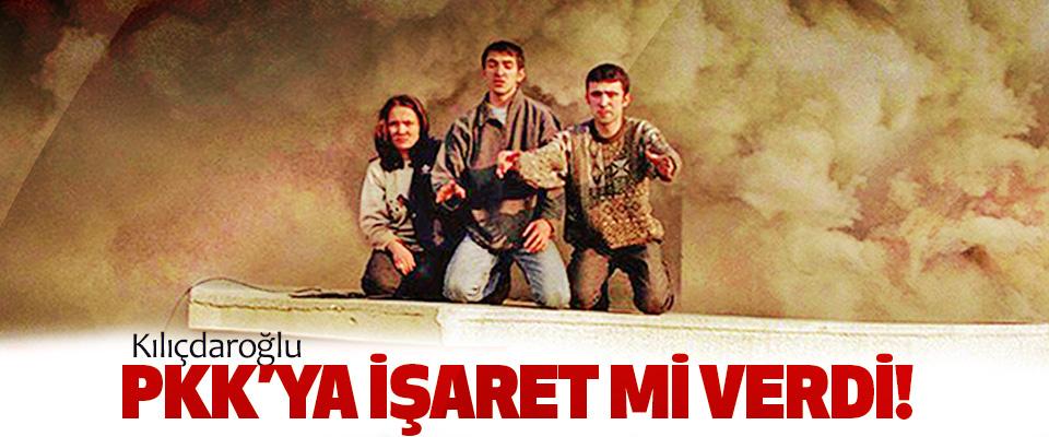 Kılıçdaroğlu pkk'ya işaret mi verdi!