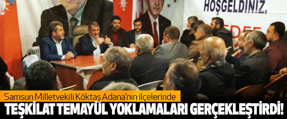 Köktaş, Adana'nın ilçelerinde  Teşkilat temayül yoklamaları gerçekleştirdi!
