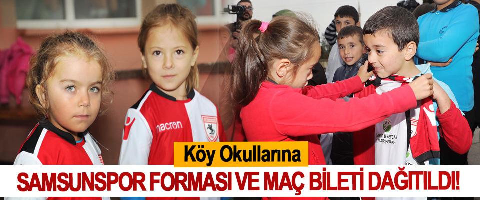Köy Okullarına Samsunspor Forması Ve Maç Bileti Dağıtıldı!